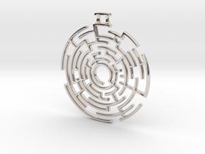 Labyrinthine Pendant in Platinum