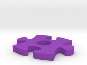 Awarness Puzzle Piece in Purple Processed Versatile Plastic
