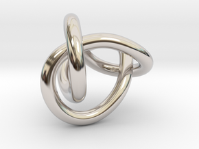 Figure 8 Knot in Rhodium Plated Brass