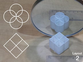 Improved Ambiguous Cylinder Illusion (Layout 2) in White Natural Versatile Plastic