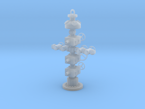 1/64th Hydraulic Fracturing Wellhead with BOP in Smooth Fine Detail Plastic