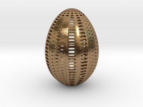 Designer Egg 1 in Natural Brass