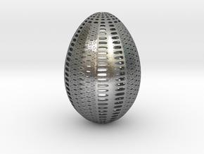 Designer Egg 1 in Natural Silver