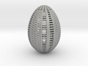 Designer Egg 1 in Aluminum