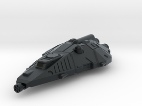 Terran Fighter, Flying in Black Hi-Def Acrylate