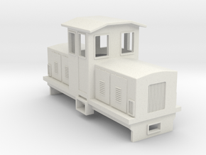 009 Electric Centrecab Locomotive (009 Jennifer 1) in White Natural Versatile Plastic