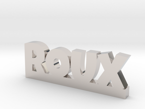 ROUX Lucky in Rhodium Plated Brass