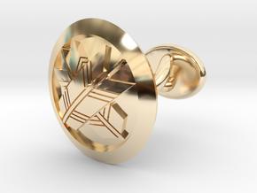 "Japanese mark cufflink ""丸に違い矢紋"" in 14K Yellow Gold: Small"