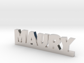 MAURY Lucky in Rhodium Plated Brass