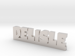 DELISLE Lucky in Rhodium Plated Brass
