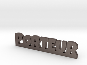 PORTEUR Lucky in Polished Bronzed Silver Steel