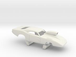 1/16 69 Daytona Pro Mod W Vents W Scoop in White Natural Versatile Plastic