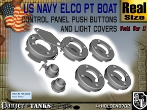 PT Control Panel Push Buttons+lights in White Processed Versatile Plastic
