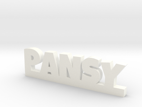 PANSY Lucky in White Processed Versatile Plastic