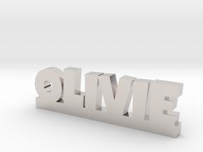 OLIVIE Lucky in Rhodium Plated Brass