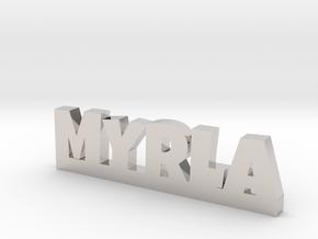 MYRLA Lucky in Rhodium Plated Brass