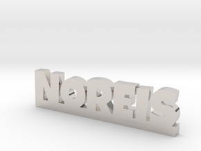 NOREIS Lucky in Rhodium Plated Brass