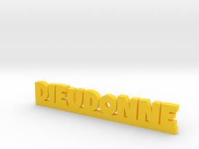 DIEUDONNE Lucky in Yellow Processed Versatile Plastic