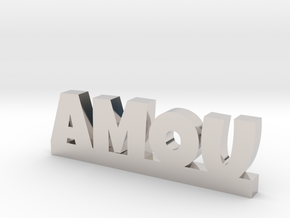 AMOU Lucky in Rhodium Plated Brass