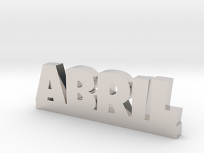 ABRIL Lucky in Rhodium Plated Brass