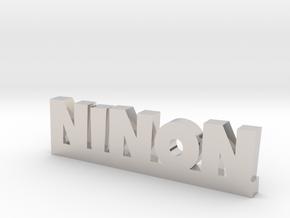 NINON Lucky in Rhodium Plated Brass