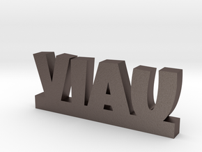 VIAU Lucky in Polished Bronzed Silver Steel