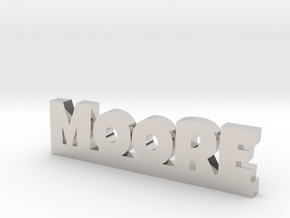 MOORE Lucky in Rhodium Plated Brass