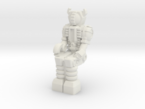 Waruder Kuwagatrer Pilot mini, seated (35mm) in White Strong & Flexible