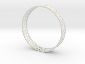 4-Leaf Celtic Knot Gissel 60mm Diameter Bracelet in White Natural Versatile Plastic