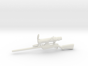 Sniper rifle in White Natural Versatile Plastic