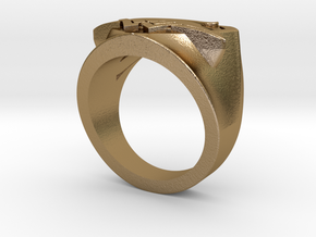 Wedding Ring US7.5 in Polished Gold Steel