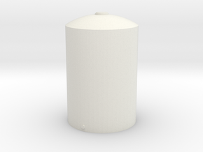 1/64 Scale 5000 Gallon Vertical Tank in White Natural Versatile Plastic