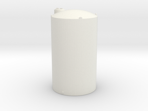 1/64 Scale 6000 Gallon Vertical Tank in White Natural Versatile Plastic