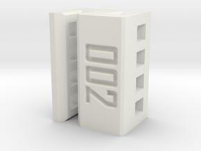 Daughterboard Clip for Amiga 3000 in White Natural Versatile Plastic