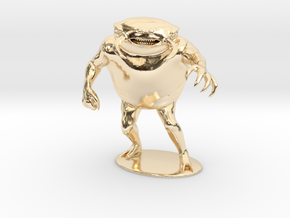 Umber Hulk Miniature in 14k Gold Plated Brass: 1:60.96