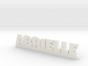 ABRIELLE Lucky in White Strong & Flexible Polished