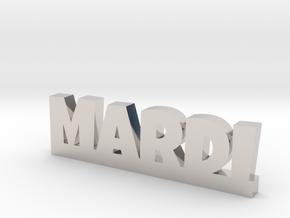 MARDI Lucky in Rhodium Plated Brass
