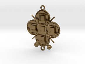 Pendant Veritamour in Polished Bronze
