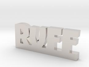 RUFF Lucky in Rhodium Plated Brass