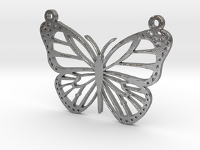 Butterfly 2 Necklace (1) in Raw Silver