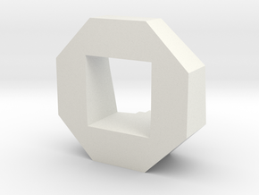 Objective Marker in White Natural Versatile Plastic