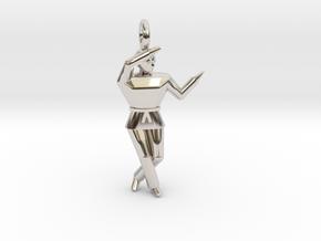 Pendant - Chango in Platinum