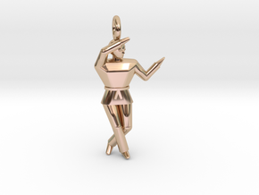 Pendant - Chango in 14k Rose Gold Plated Brass