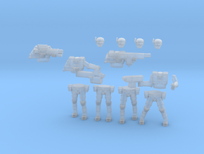 36MM Squad Builder Light Armor Troopers in Smooth Fine Detail Plastic
