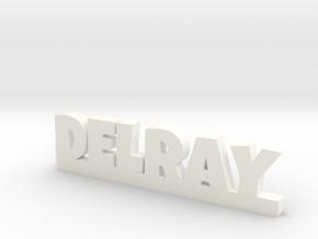 DELRAY Lucky in White Processed Versatile Plastic