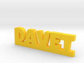 DAVET Lucky in Yellow Processed Versatile Plastic