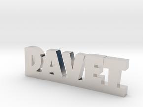 DAVET Lucky in Rhodium Plated Brass