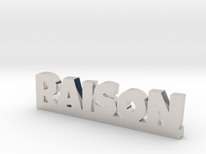 RAISON Lucky in Rhodium Plated Brass