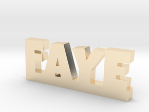 FAYE Lucky in 14k Gold Plated Brass