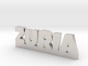 ZURIA Lucky in Rhodium Plated Brass